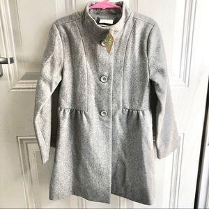 Crazy 8 girl's gray winter long coat Size 5-6